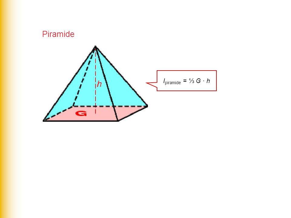 Piramide Ipiramide = ⅓ G · h