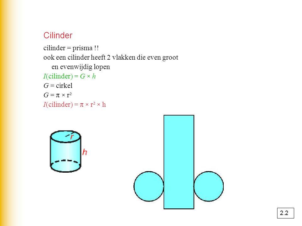 Cilinder cilinder = prisma !!