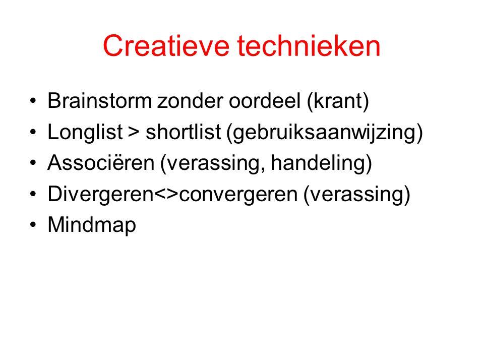 Creatieve technieken Brainstorm zonder oordeel (krant)