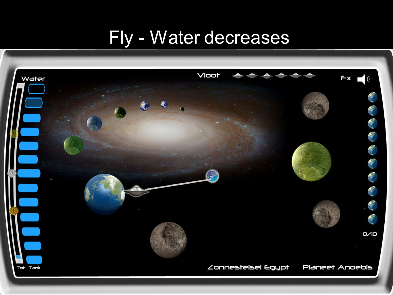 Fly - Water decreases