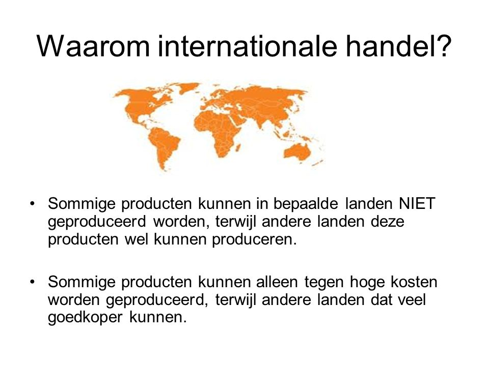 Waarom internationale handel