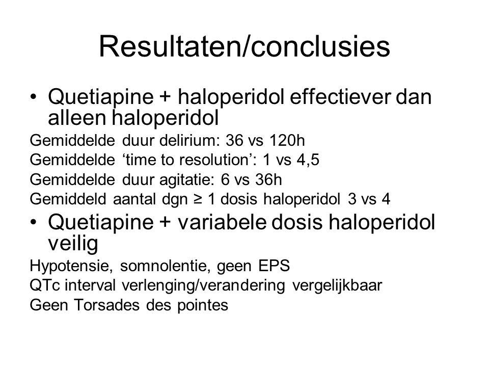 Resultaten/conclusies