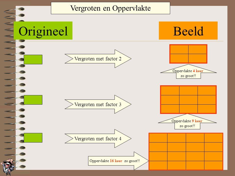 Origineel Beeld Vergroten en Oppervlakte Vergroten met factor 2
