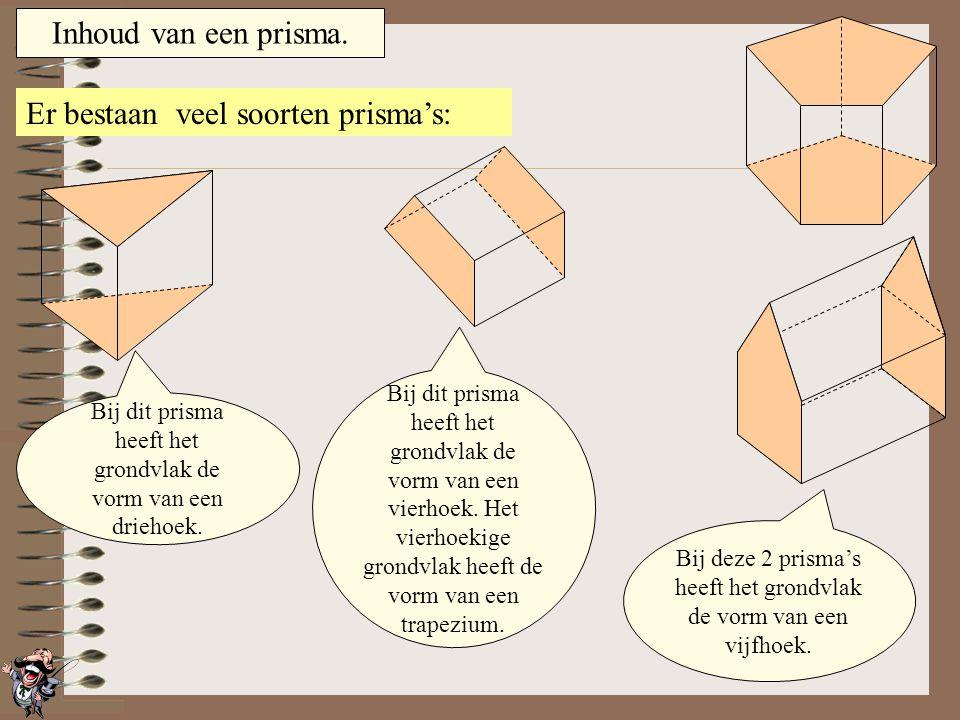 Er bestaan veel soorten prisma's: