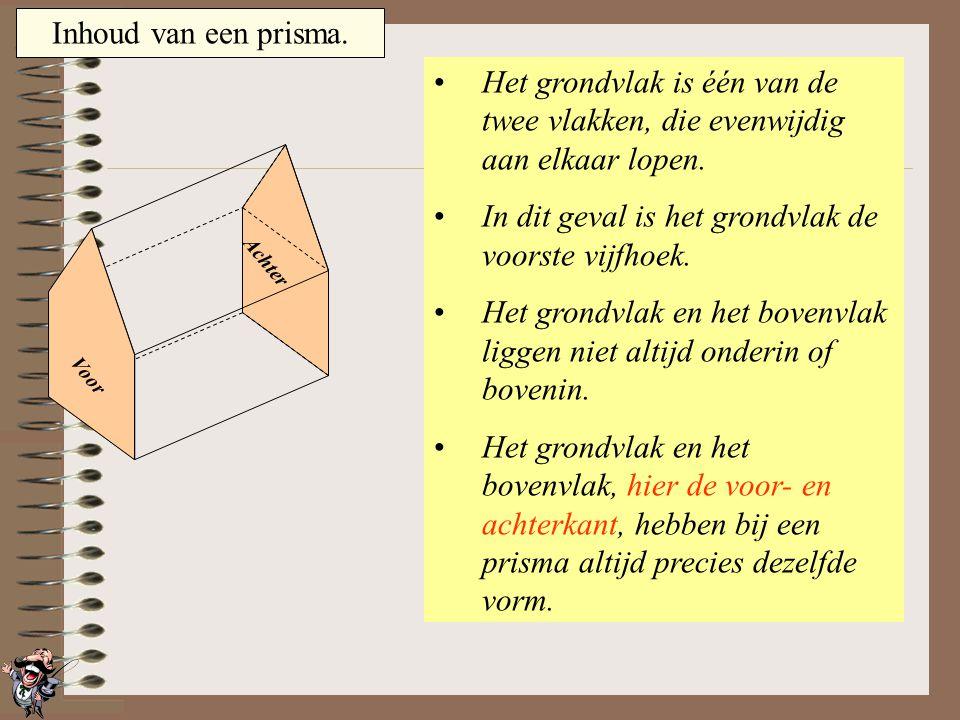 In dit geval is het grondvlak de voorste vijfhoek.