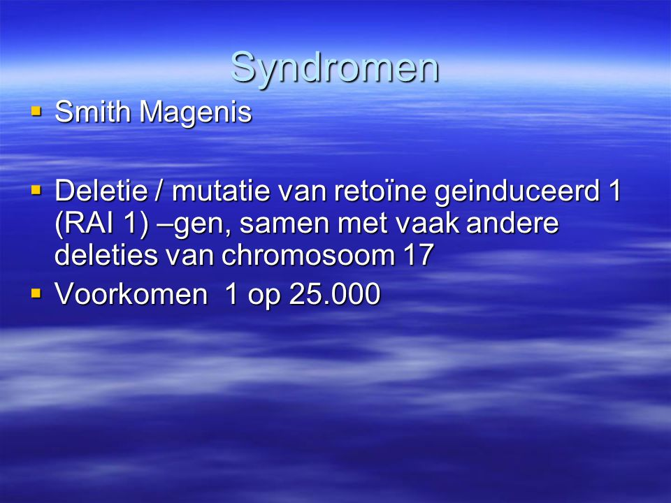 Syndromen Smith Magenis