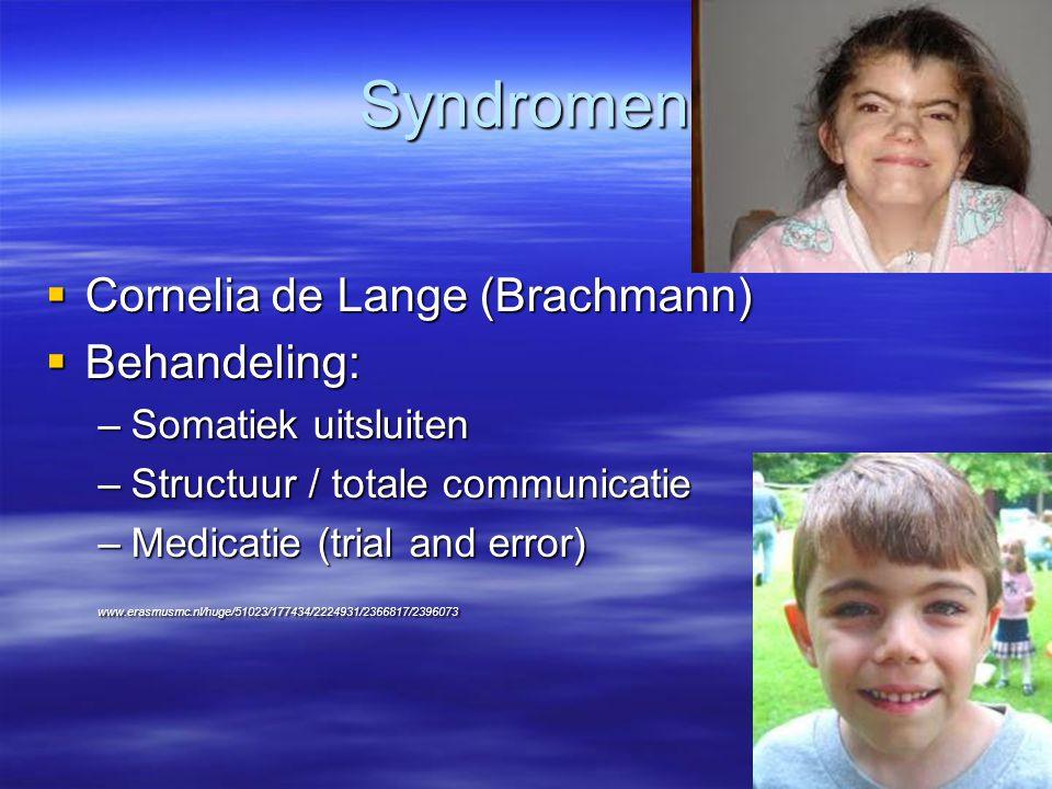 Syndromen Cornelia de Lange (Brachmann) Behandeling: