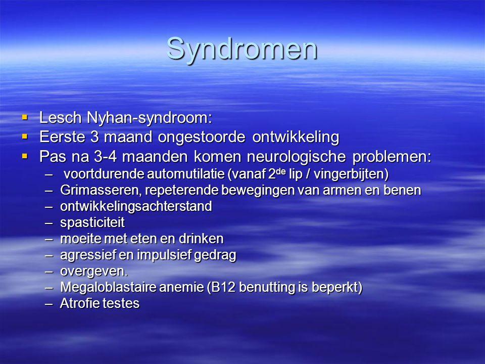 Syndromen Lesch Nyhan-syndroom: