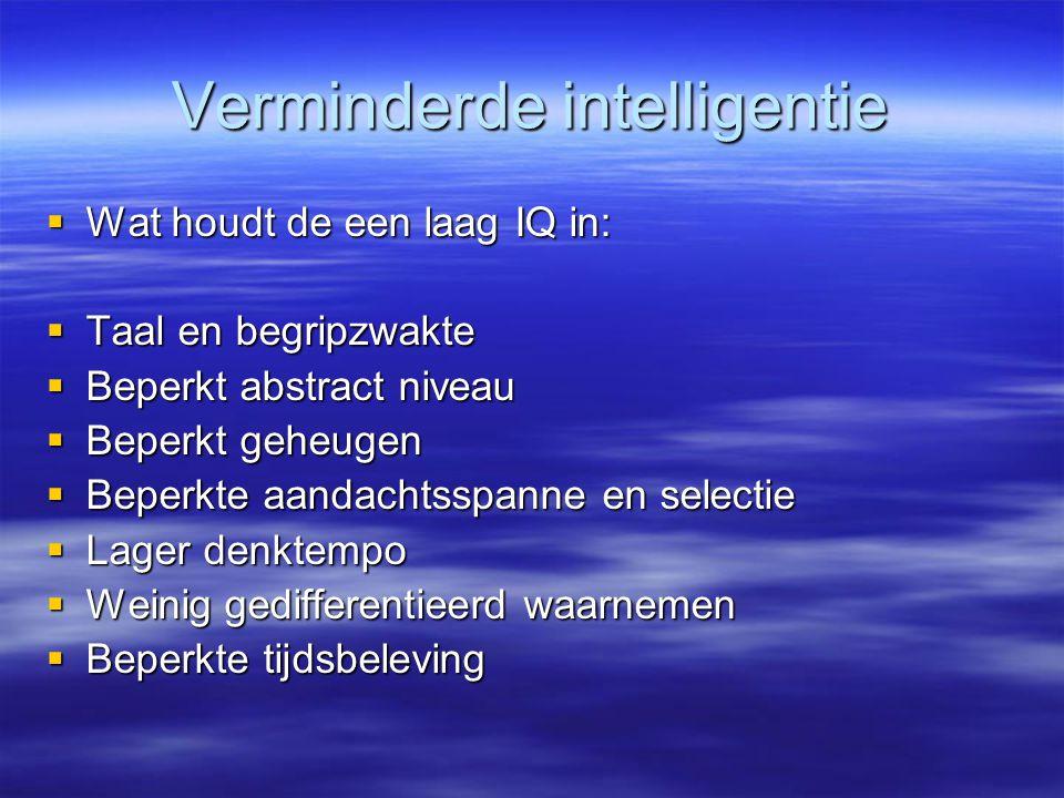 Verminderde intelligentie