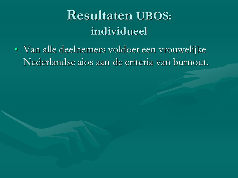Resultaten UBOS: individueel