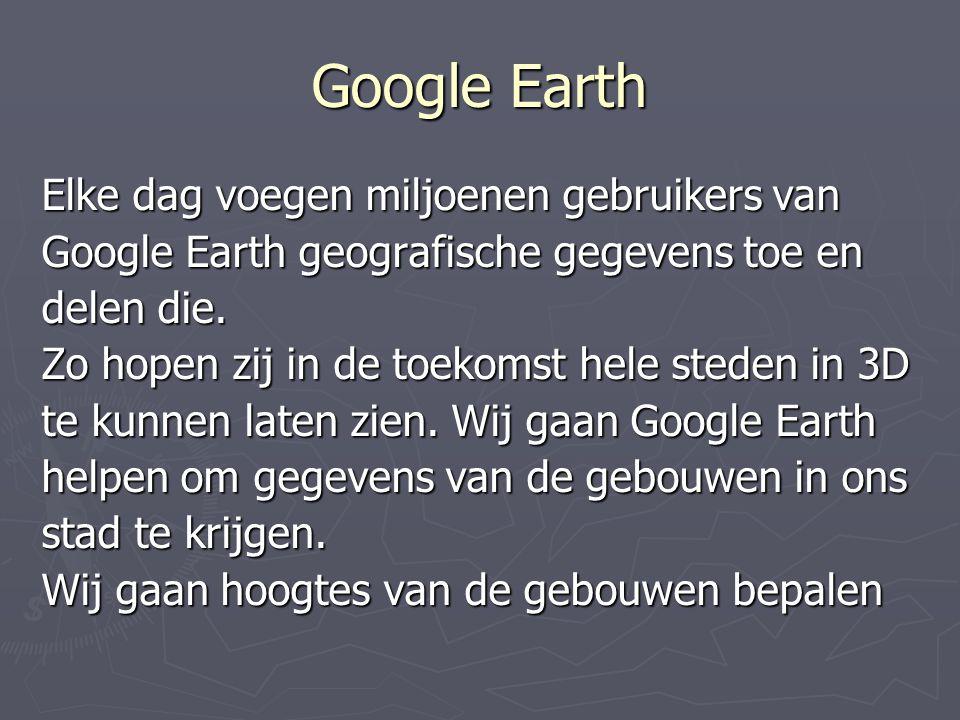 Google Earth Elke dag voegen miljoenen gebruikers van