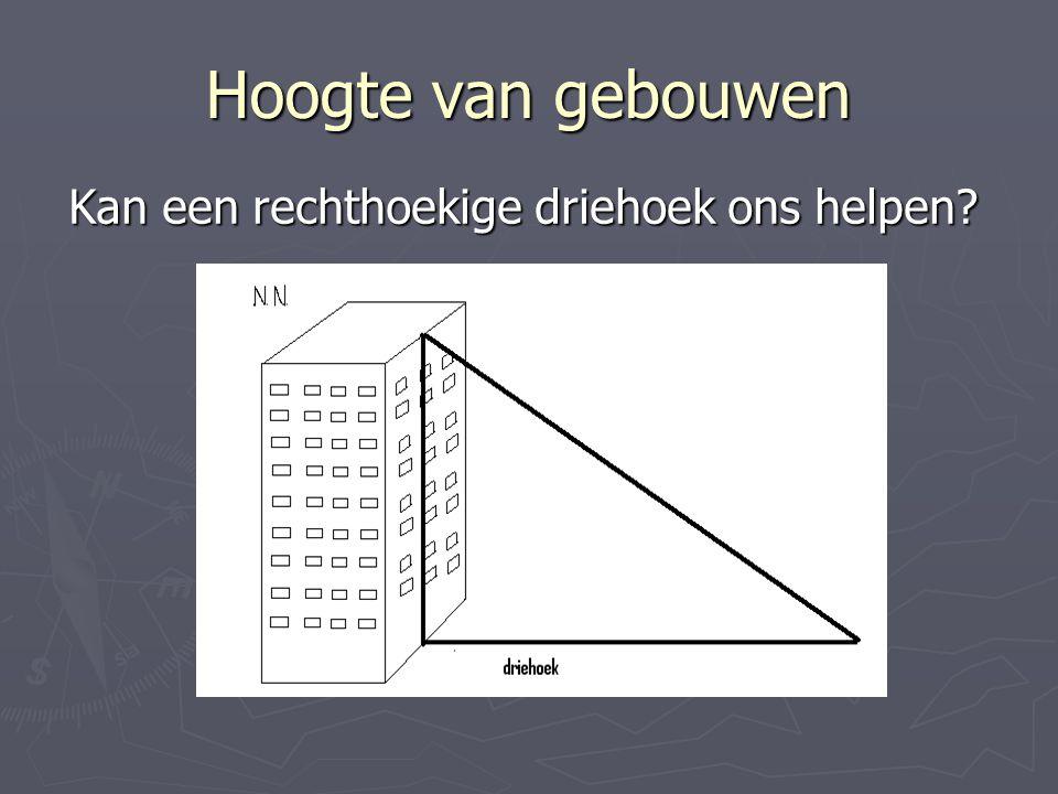 Kan een rechthoekige driehoek ons helpen