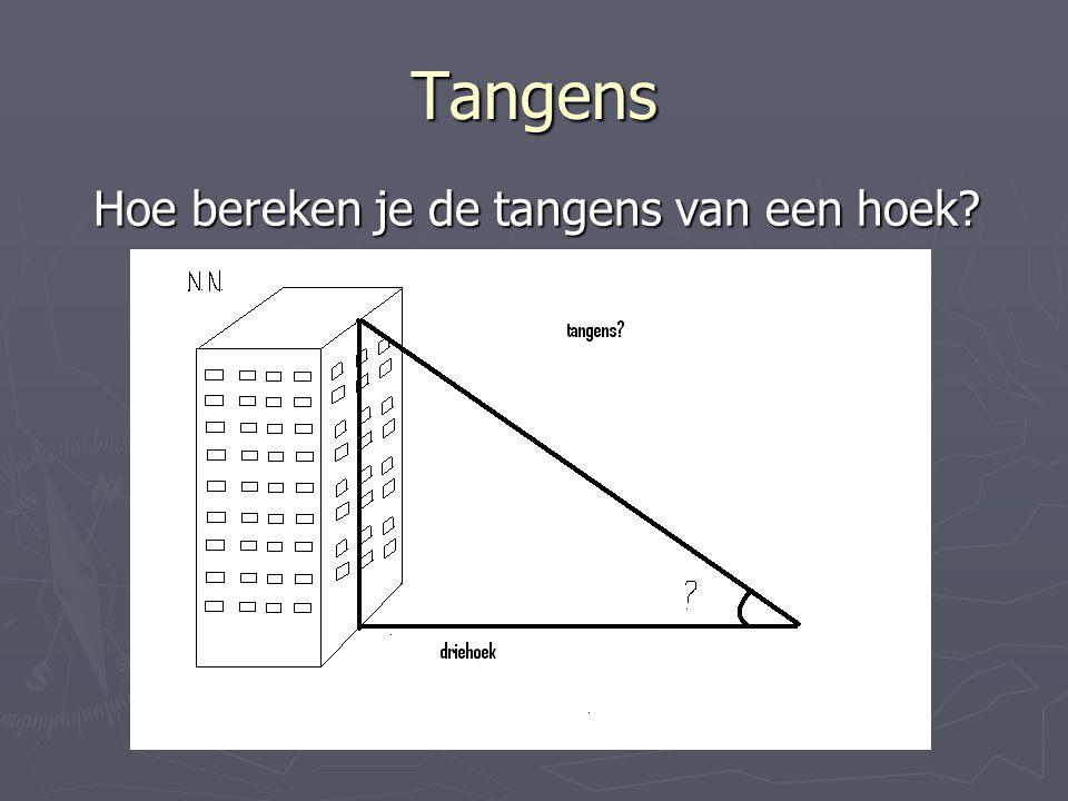Hoe bereken je de tangens van een hoek
