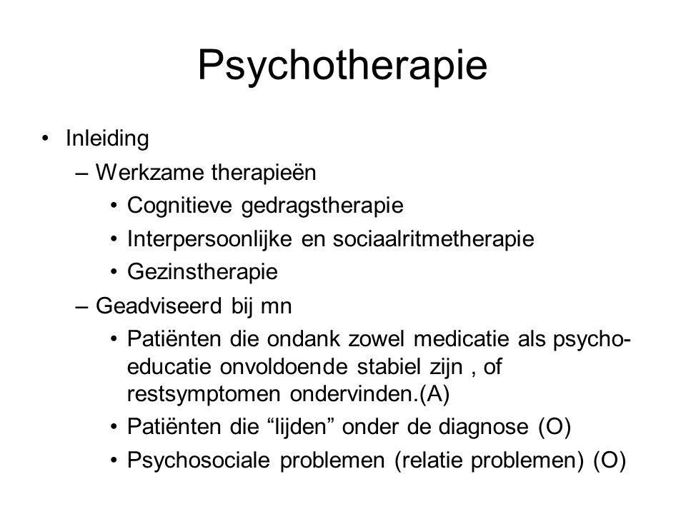 Psychotherapie Inleiding Werkzame therapieën
