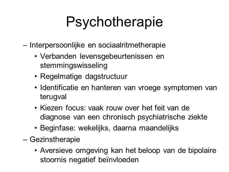 Psychotherapie Interpersoonlijke en sociaalritmetherapie