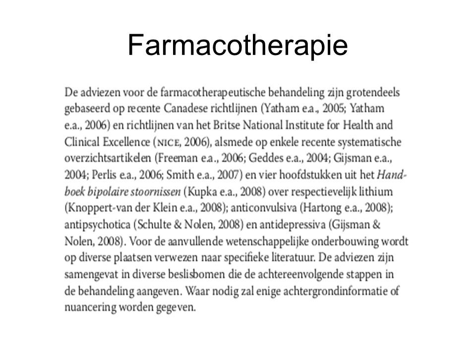 Farmacotherapie