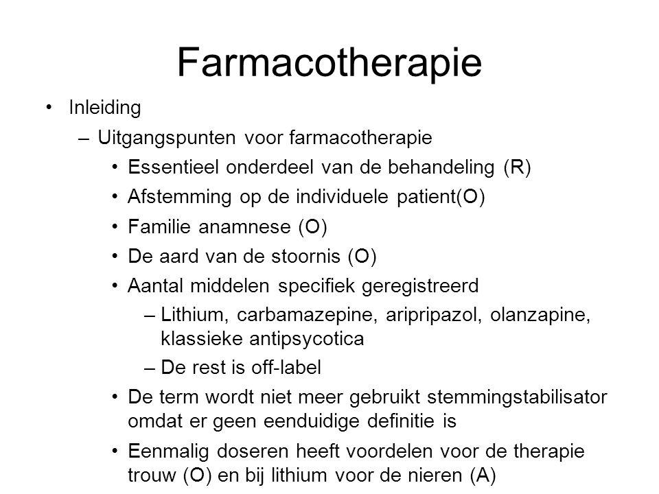 Farmacotherapie Inleiding Uitgangspunten voor farmacotherapie
