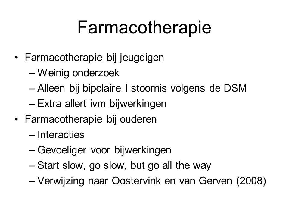 Farmacotherapie Farmacotherapie bij jeugdigen Weinig onderzoek