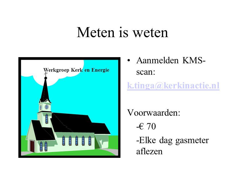 Meten is weten Aanmelden KMS-scan: k.tinga@kerkinactie.nl Voorwaarden: