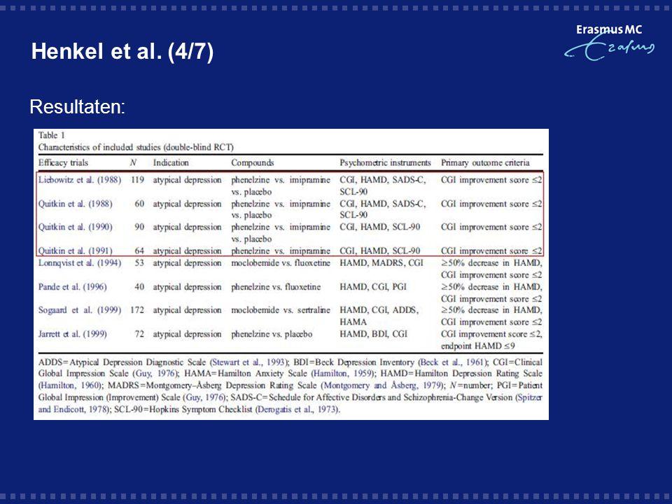 Henkel et al. (4/7) Resultaten: