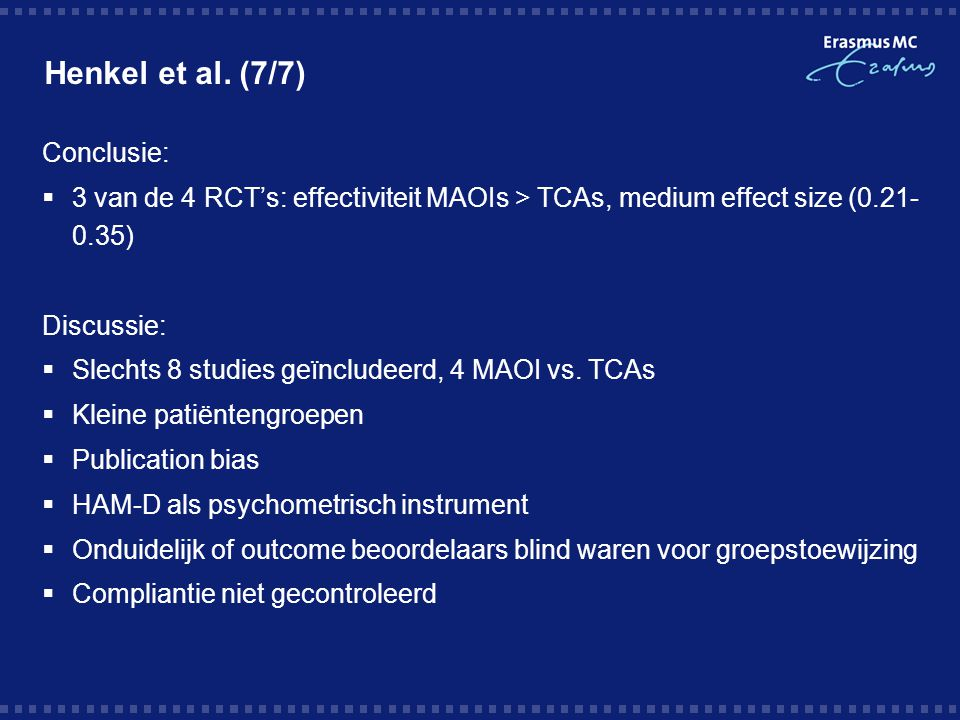 Henkel et al. (7/7) Conclusie: