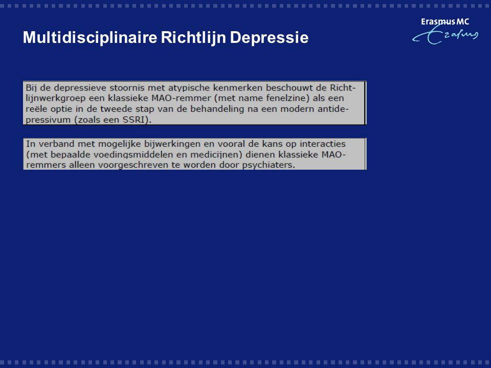 Multidisciplinaire Richtlijn Depressie