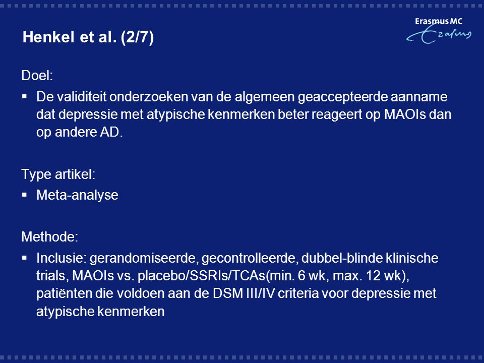 Henkel et al. (2/7) Doel: