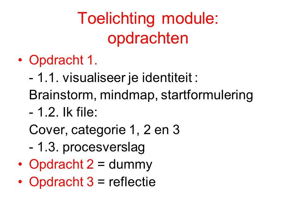 Toelichting module: opdrachten