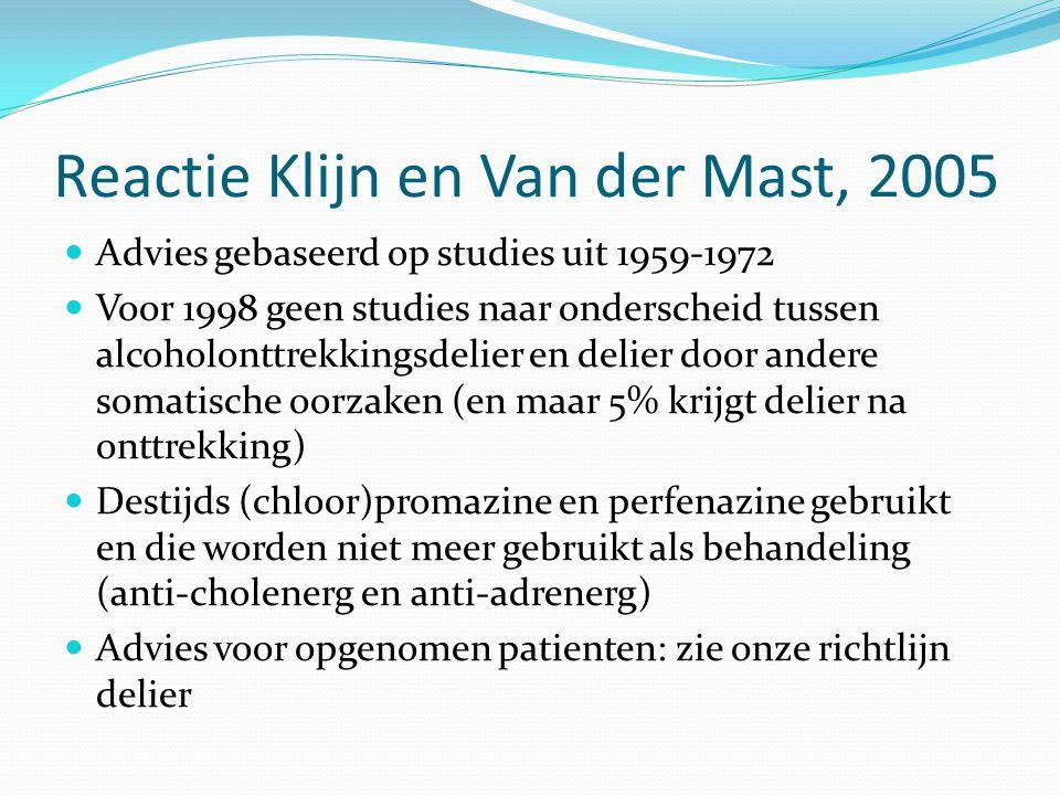 Reactie Klijn en Van der Mast, 2005