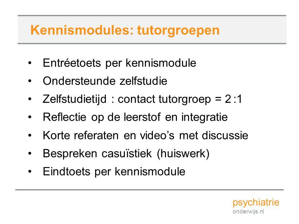 Kennismodules: tutorgroepen