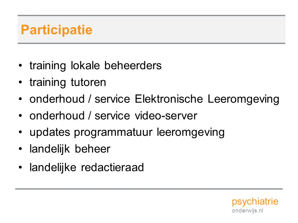 Participatie training lokale beheerders training tutoren