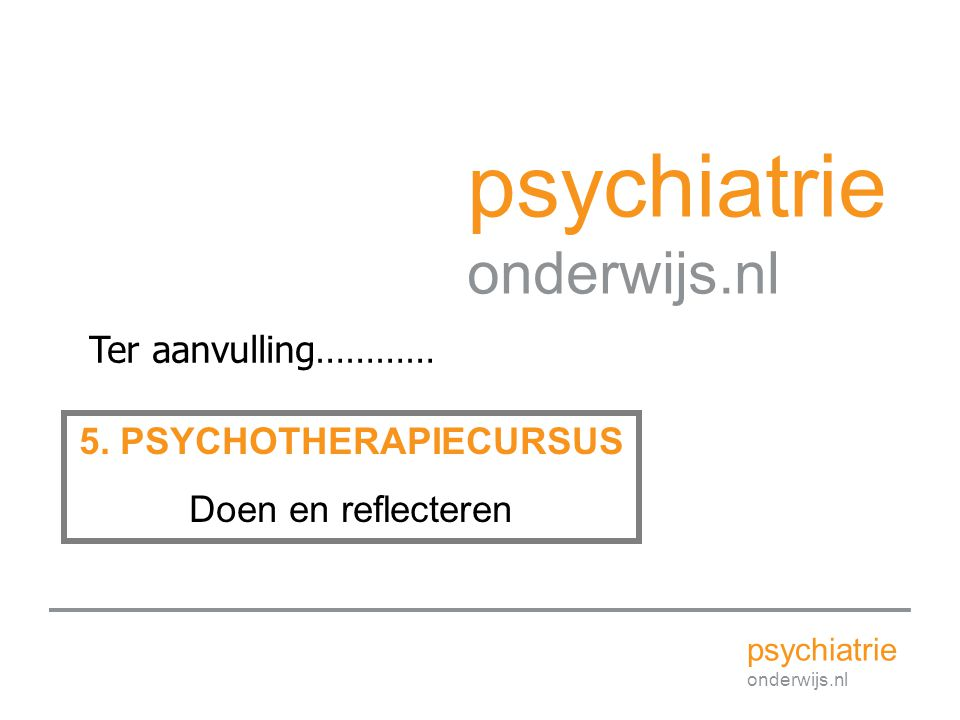 5. PSYCHOTHERAPIECURSUS