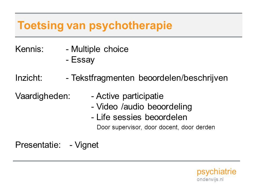 Toetsing van psychotherapie