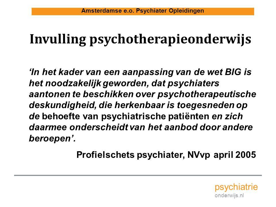Invulling psychotherapieonderwijs