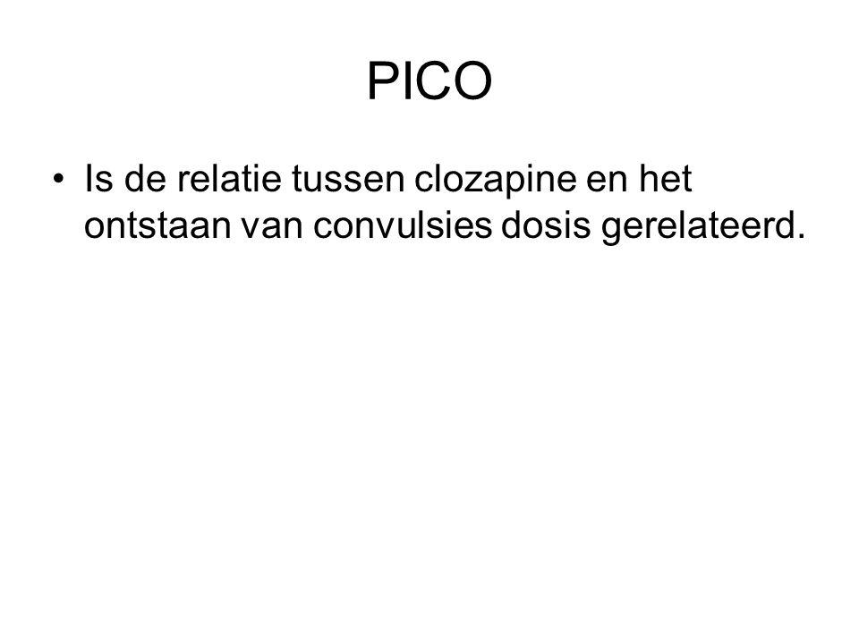 PICO Is de relatie tussen clozapine en het ontstaan van convulsies dosis gerelateerd.