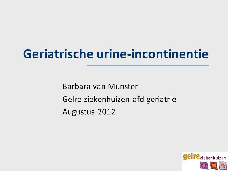 Geriatrische urine-incontinentie
