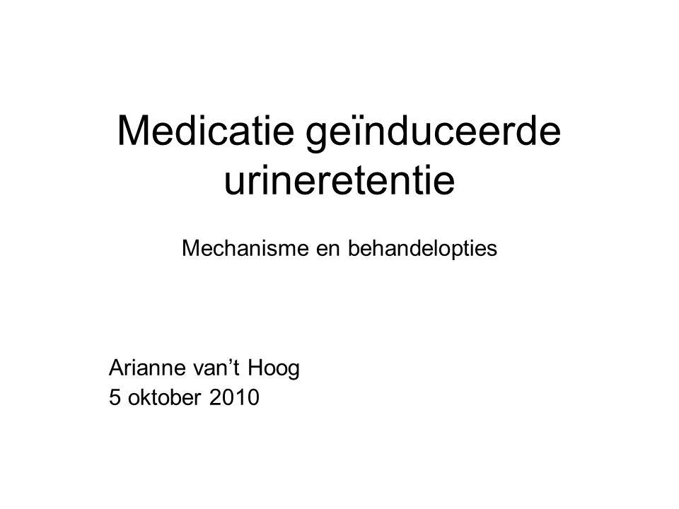 Medicatie geïnduceerde urineretentie