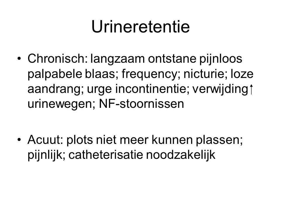 Urineretentie