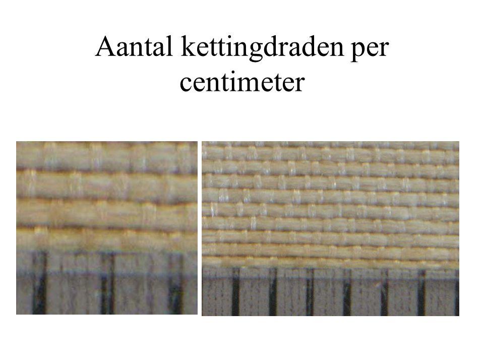 Aantal kettingdraden per centimeter