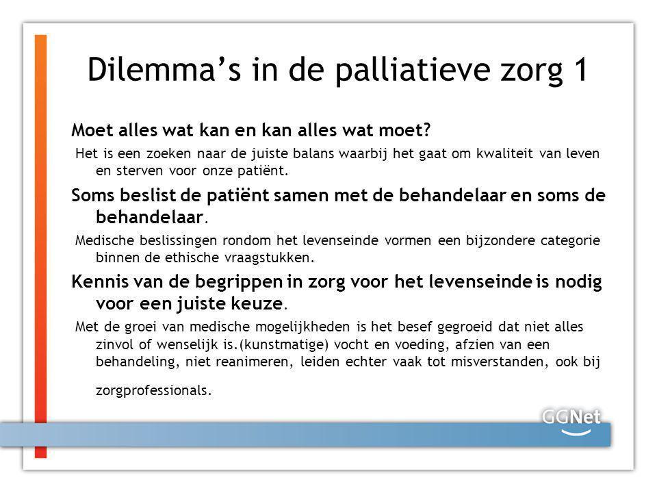Dilemma's in de palliatieve zorg 1