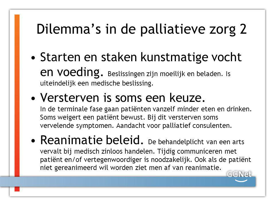 Dilemma's in de palliatieve zorg 2