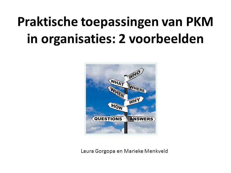 Praktische toepassingen van PKM in organisaties: 2 voorbeelden