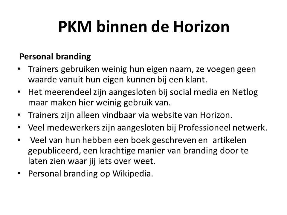 PKM binnen de Horizon Personal branding