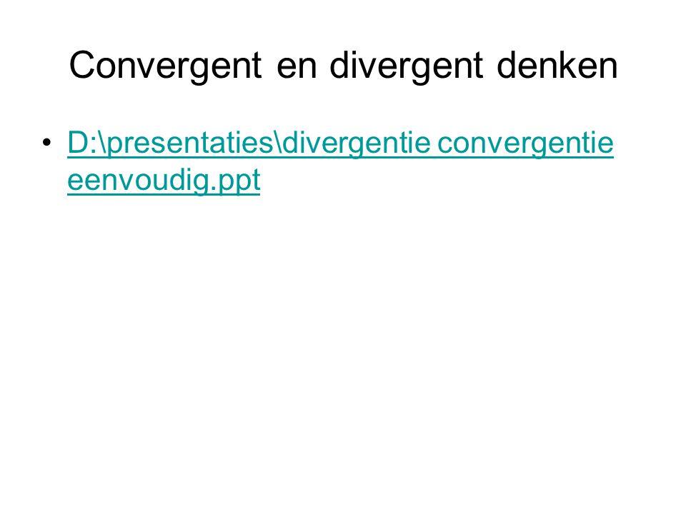 Convergent en divergent denken