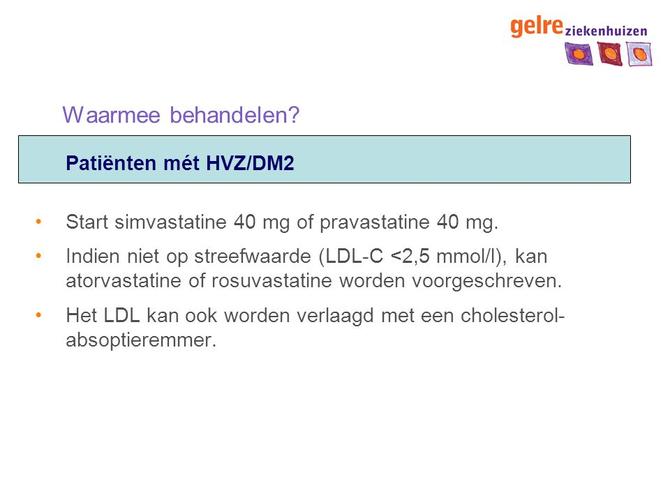 Waarmee behandelen Patiënten mét HVZ/DM2