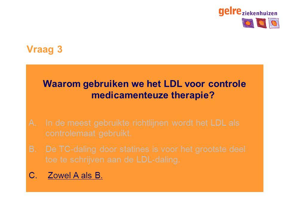 Waarom gebruiken we het LDL voor controle medicamenteuze therapie