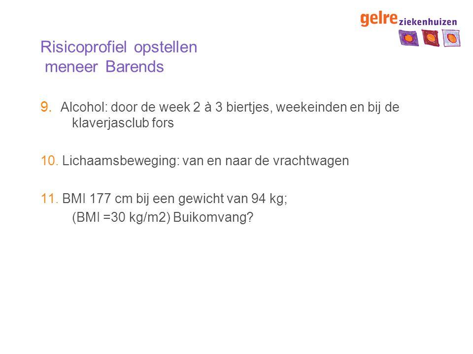 Risicoprofiel opstellen meneer Barends