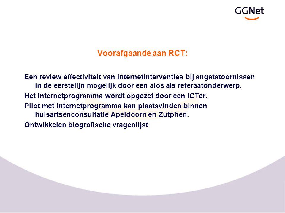 Voorafgaande aan RCT: