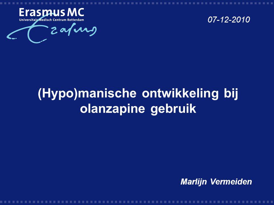 (Hypo)manische ontwikkeling bij olanzapine gebruik