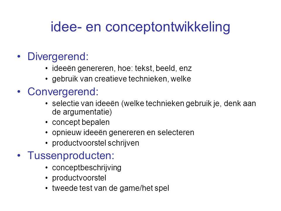 idee- en conceptontwikkeling